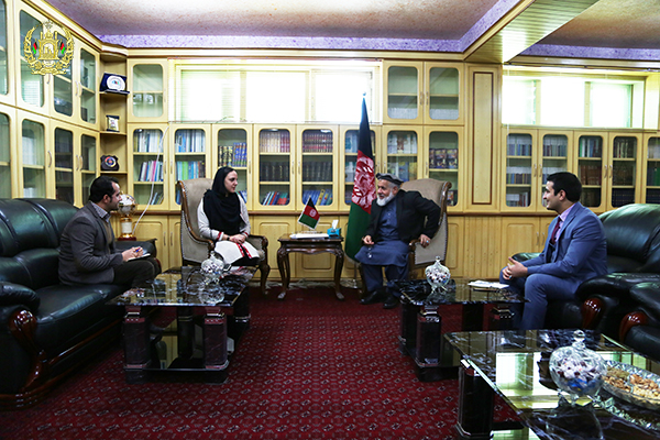 Dr. Abdul Basir Anwar, the Minister of Justice of Islamic Republic of Afghanistan, met Dr. Laila Schwartz- a psychologist in the Boston University of the United States